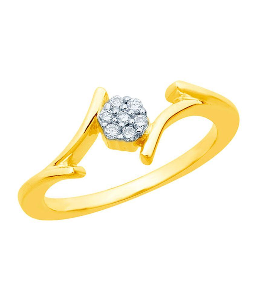 Mirrar 92.5 Sterling Silver 0.07 Ct Elegant Diamond Ring
