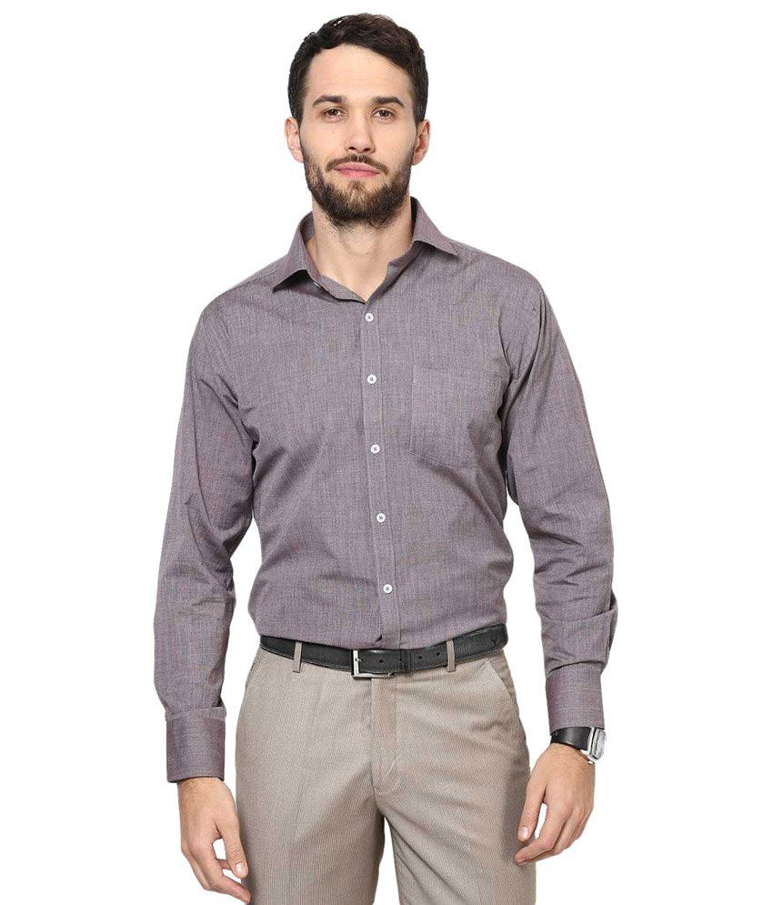 Rich Gray Solid Formal Shirt