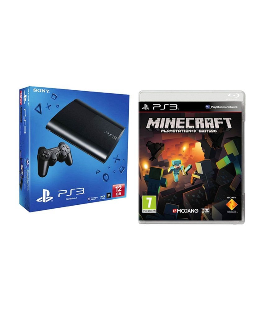 Sony Playstation 3 (12 GB) (Black) with Minecraft PS3