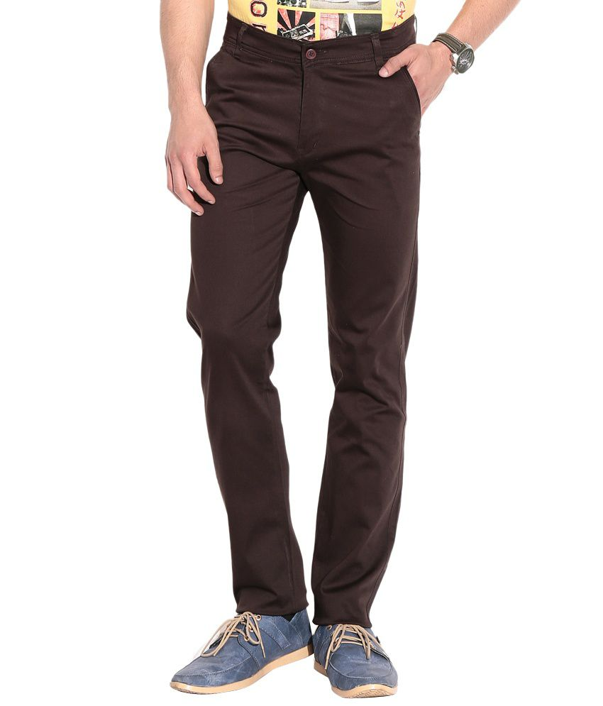 Coaster Brown Stretchable Chinos