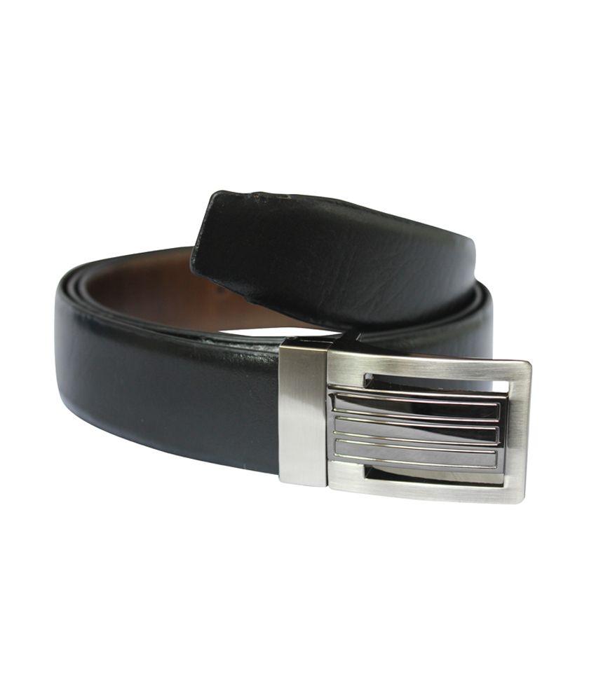 Rags Fashionable pour leather men's Black belt