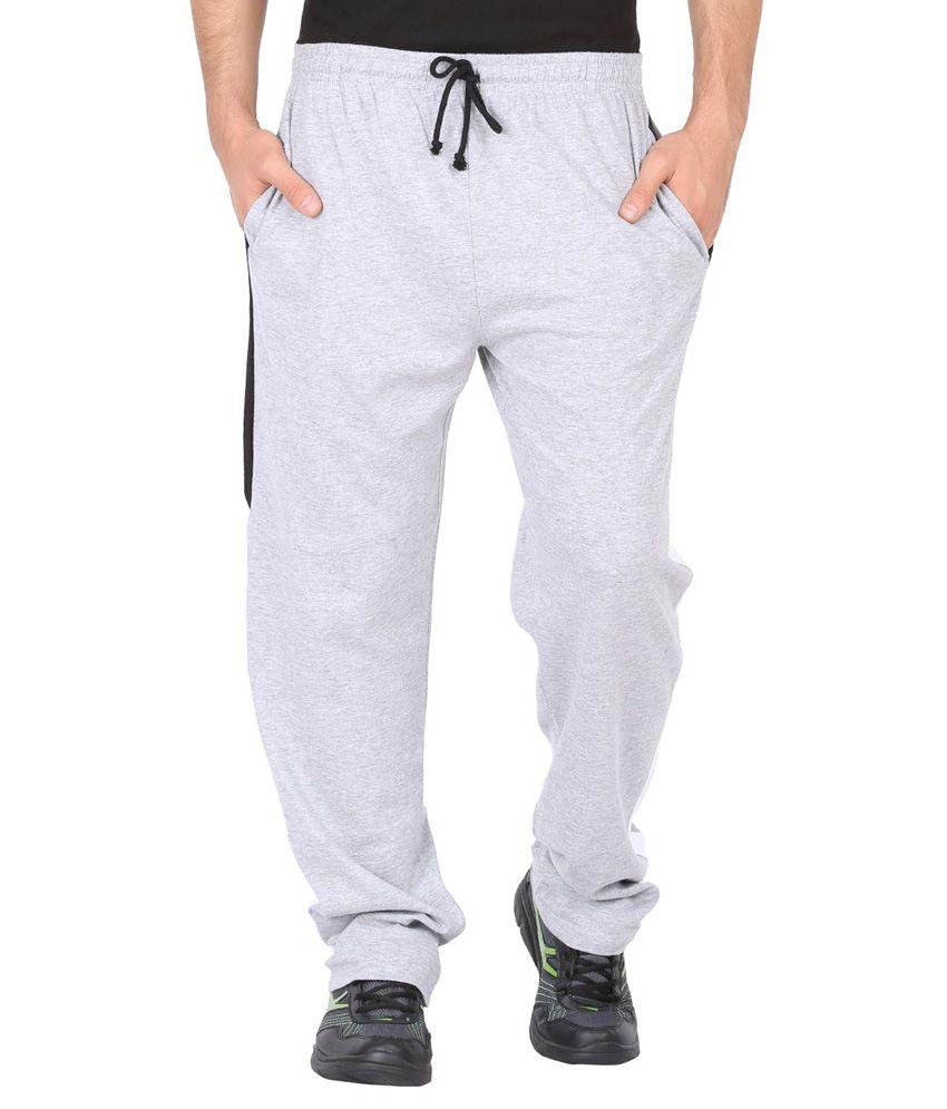 Checkersbay Gray Solid Men Trackpant