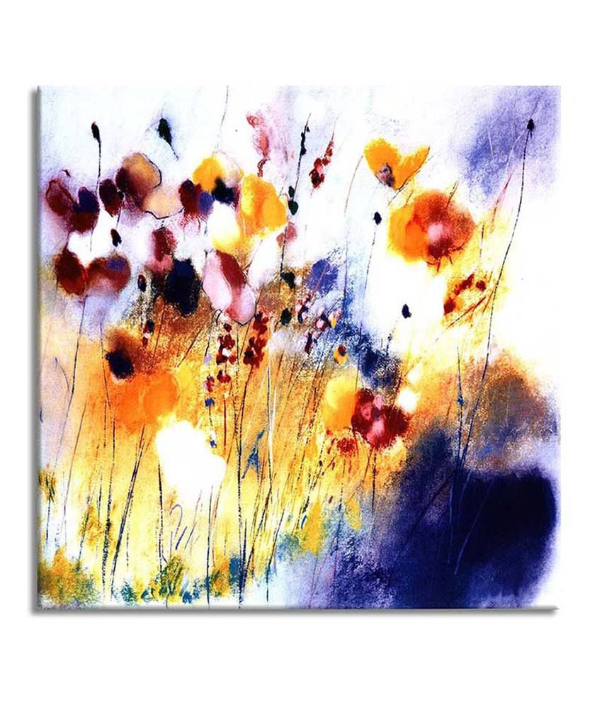 Painting Mantra Flower in the garden Painting Canvas Print Wall Hanging