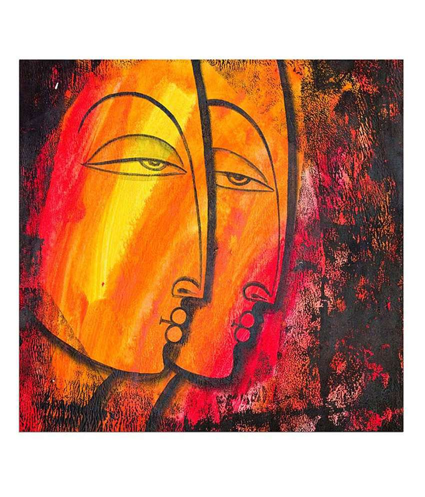 Painting Mantra Side face Painting Canvas Print Wall Hanging