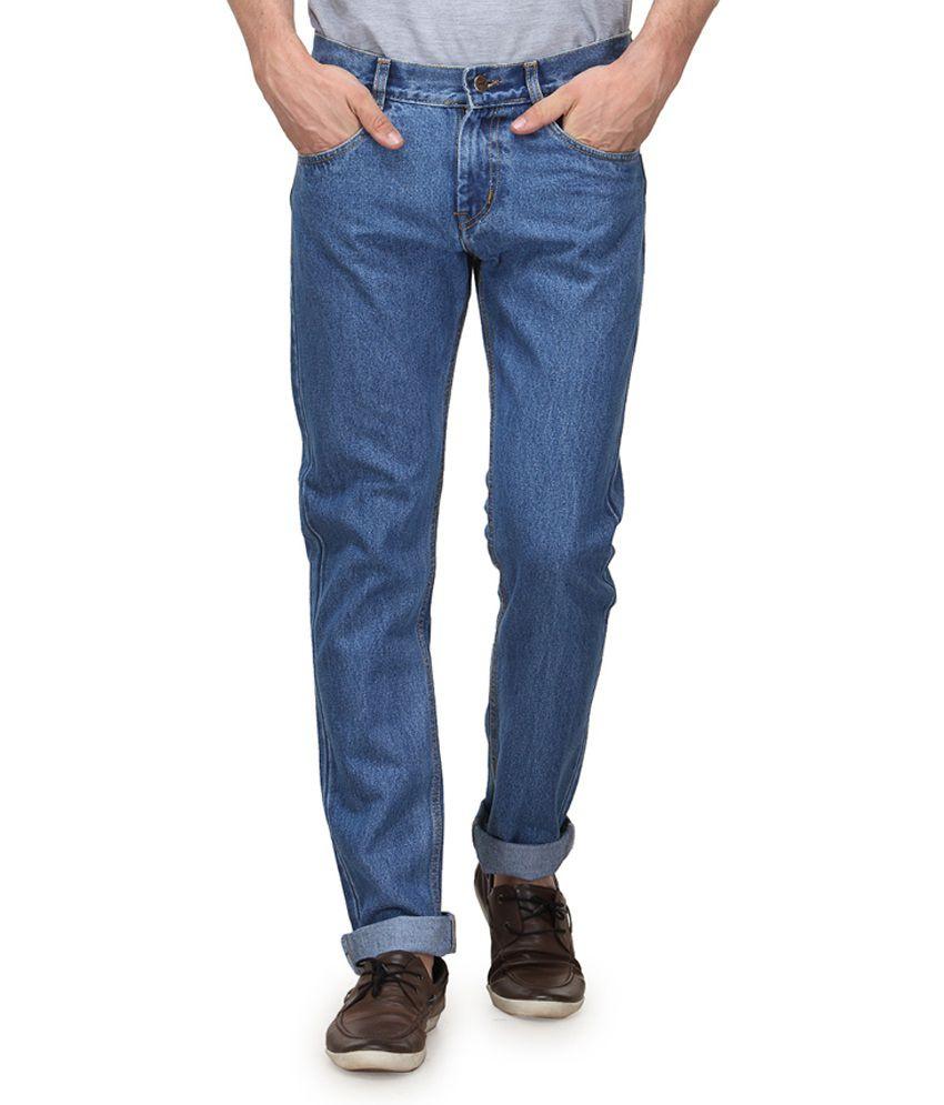 Randier Blue Cotton Regular Fit Magnificent Jeans