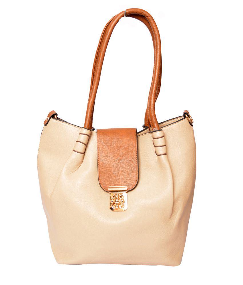 Rehan's Beige Non Leather Handbag