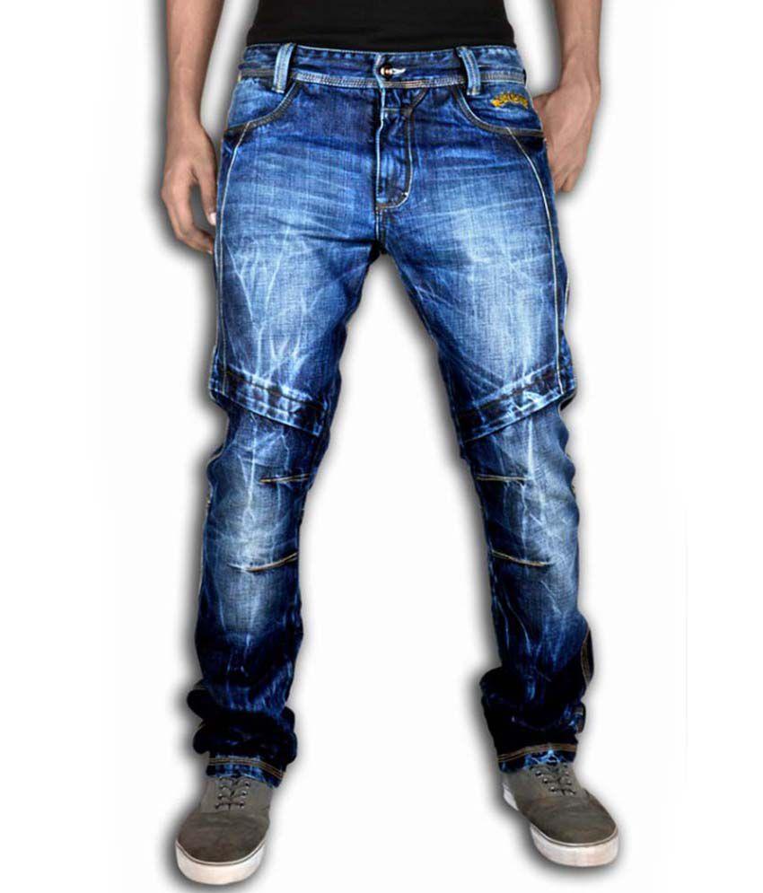 Blacksoul Blue Cotton Jeans
