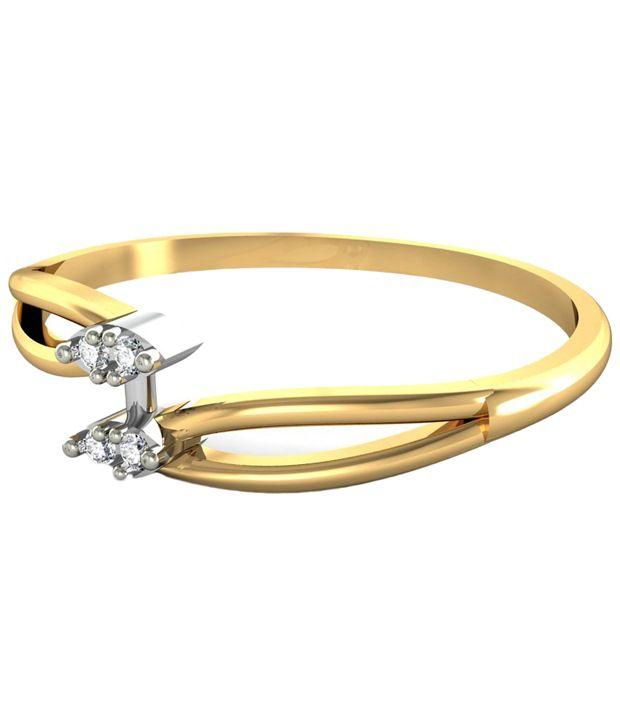 Avsar 18kt Gold   Real Diamond Kohinoor Ring For Women  Buy Avsar ... a948553c4bd7f