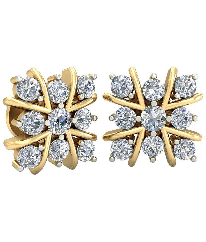 The Lysa Diamond Earrings 14KT Gold WearYourShine by PC Jeweller