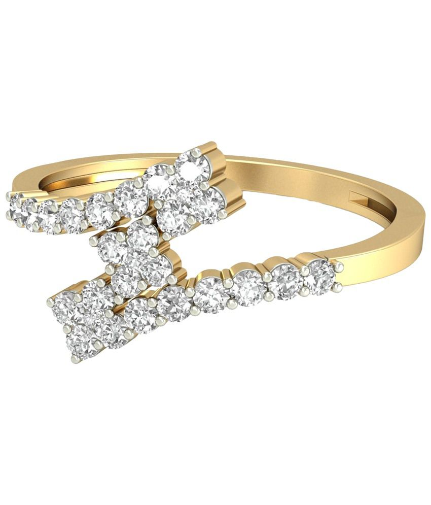 The Rosaire Diamond Ring 14KT Gold WearYourShine by PC Jeweller