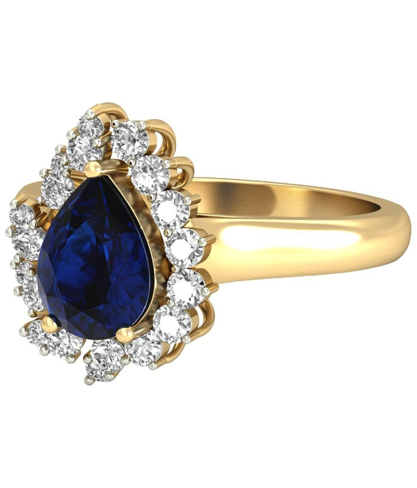 The Daveigh Diamond & Gemstone Ring 14KT Gold WearYourShine by PC Jeweller