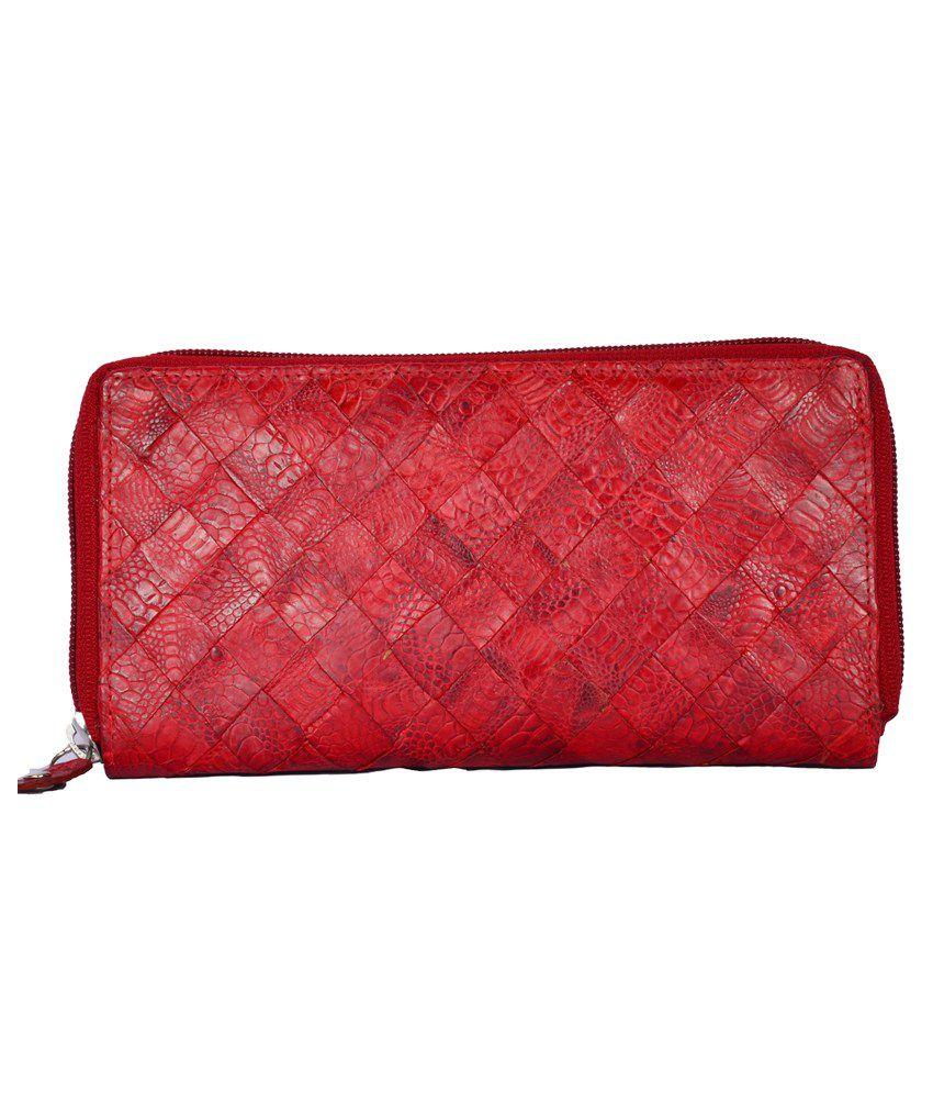 Dipro Leather Red Ladies Wallet