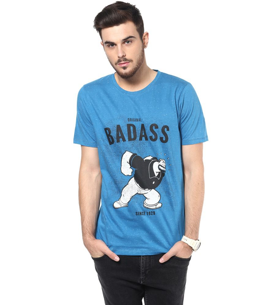 Henry And Smith Badass Popeye Pritned T-shirt