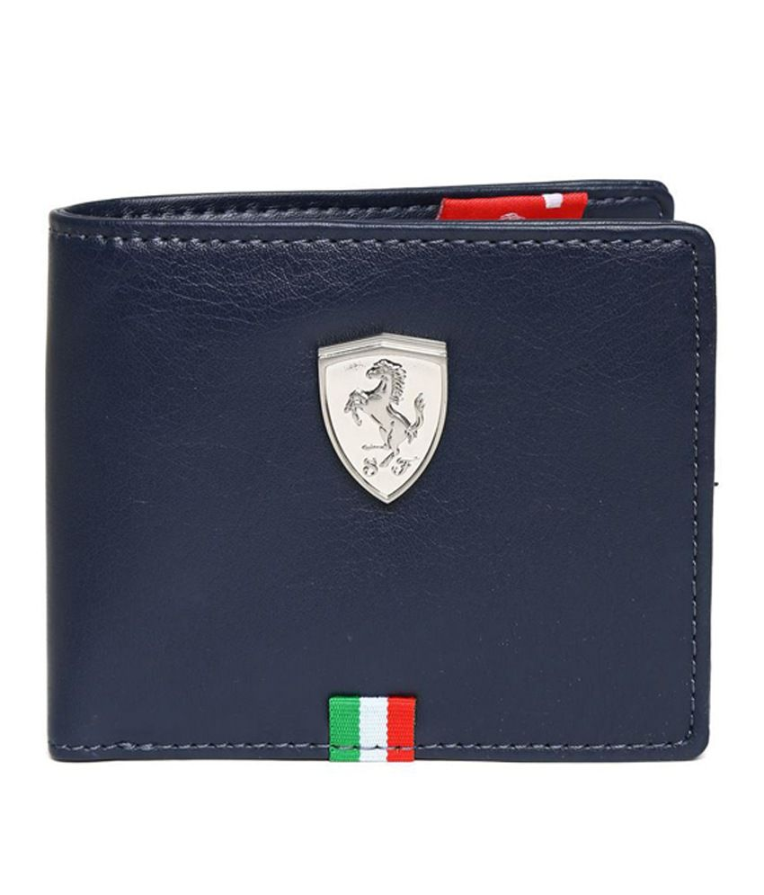 ed15601c04d11 Puma Men s Ferrari Blue Leather Wallet  Buy Online at Low Price in India -  Snapdeal