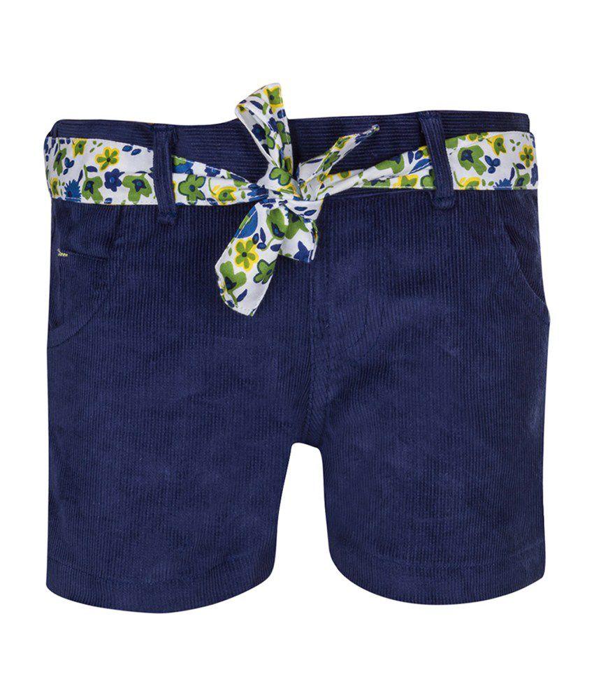 Tickles Navy Cotton Girls Shorts