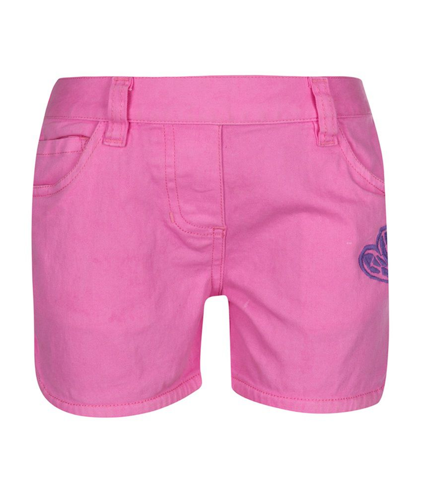 Tickles Pink Cotton Shorts