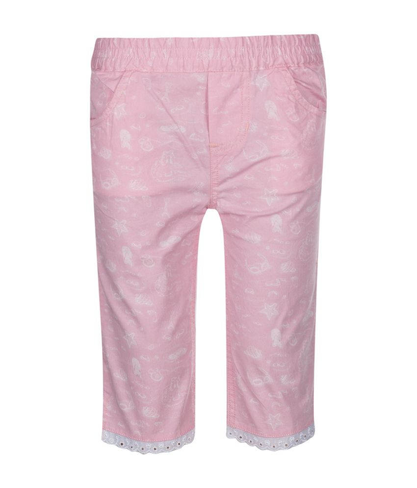 Tickles Pink Solid Girls Shorts
