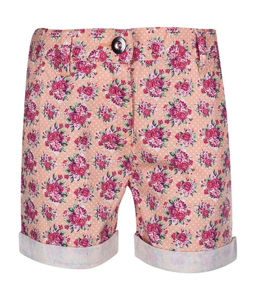 Tickles Pink Trendy Girls Shorts