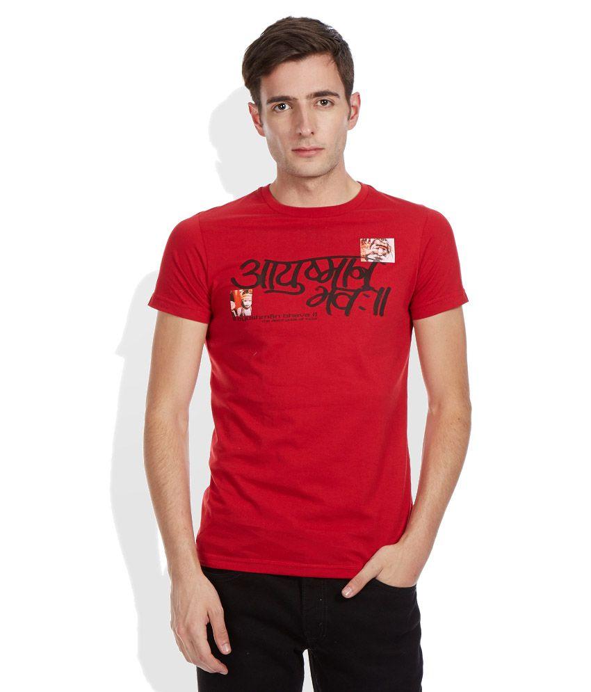 Duke Red Round Neck T Shirt