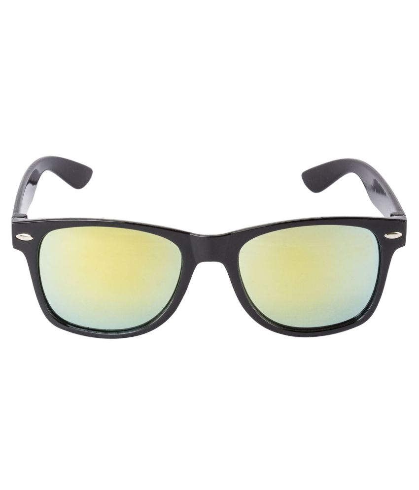 4194b8f77d9 Glitters Black Mirrored Wayfarer Sunglasses Glitters Black Mirrored  Wayfarer Sunglasses ...