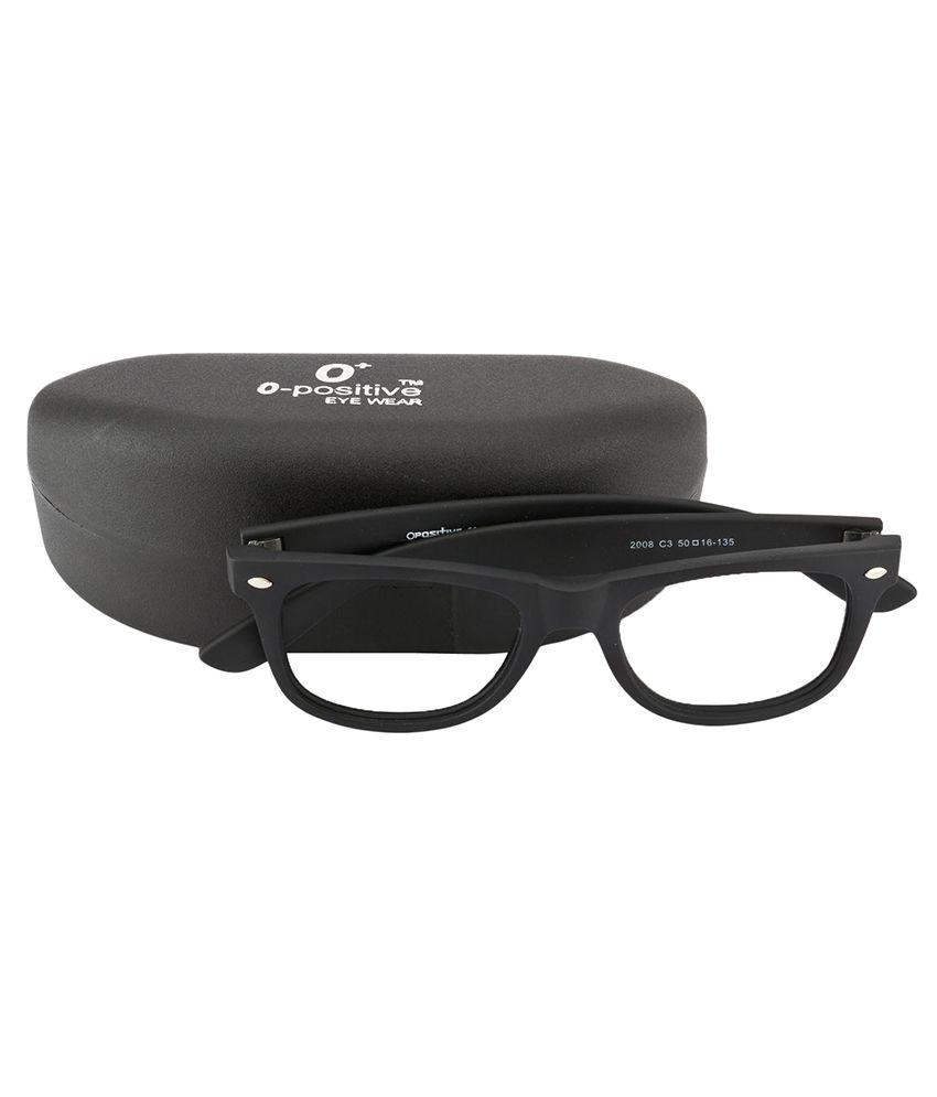 10537843f98a6 ... O Positive Black Wayfarrer Sunglasses   Black Wayfarer with White Glass  ...