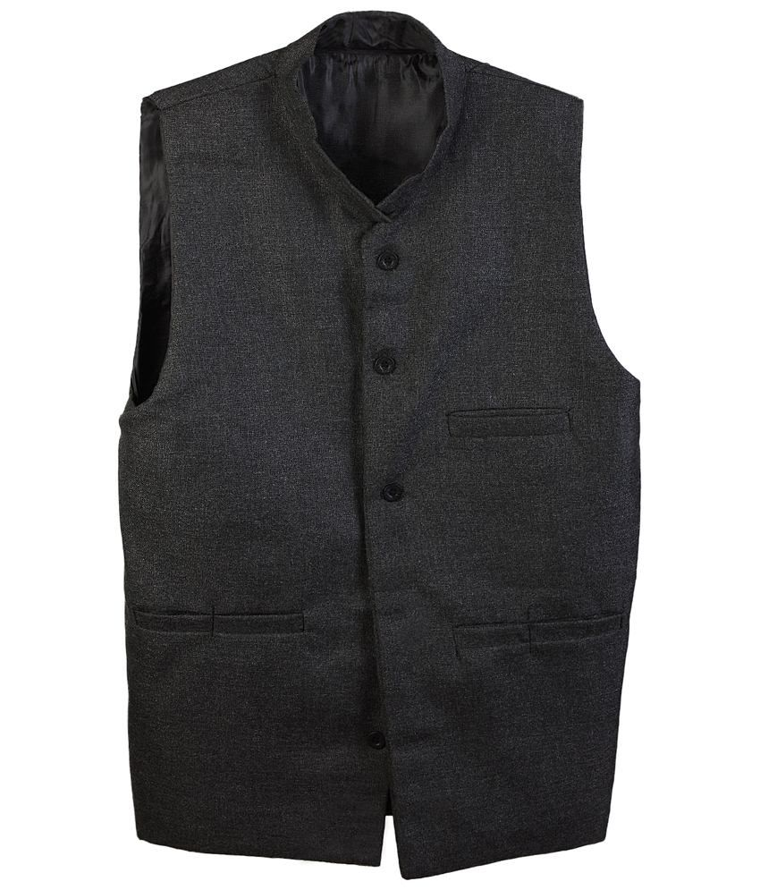 Selfieseven Classy Gray Semi Formal Waistcoat