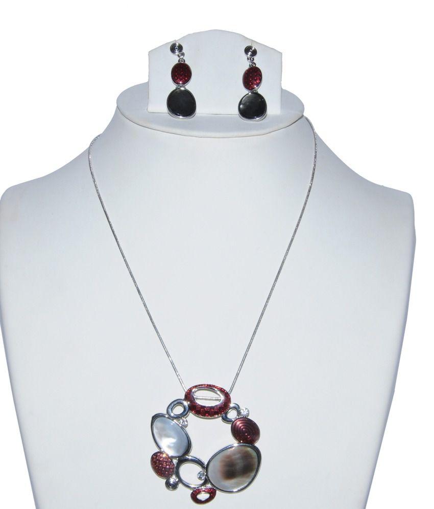 Sri Balaji Ornaments Multicolour Enamel Coloured Bead Necklace Set