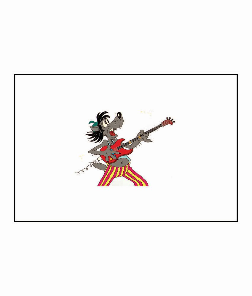 Artifa Cartoon Playing Guitar Poster