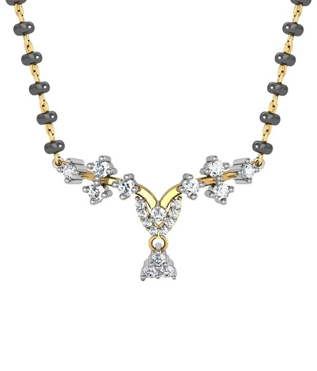 Avsar 18kt Real Gold & 0.23 Ct Diamond Mangalsutra