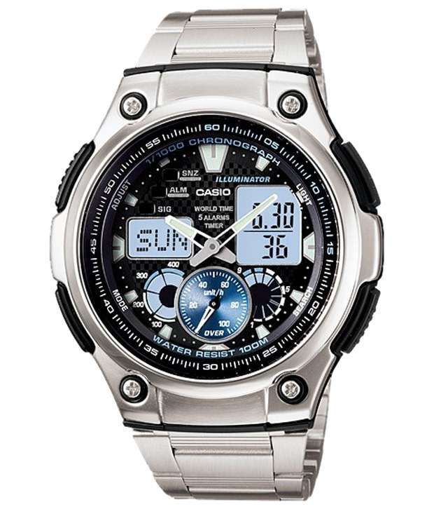 5412cf78350 Casio Enticing Black   Silver Wrist Watch For Men - Buy Casio Enticing  Black   Silver Wrist Watch For Men Online at Best Prices in India on  Snapdeal