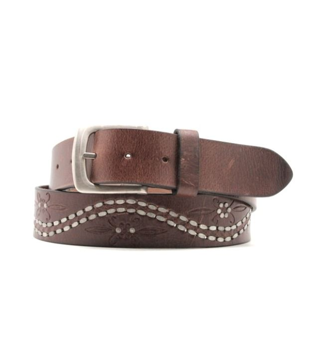 Lapalma Brown Pin Buckle Leather Belt For Men