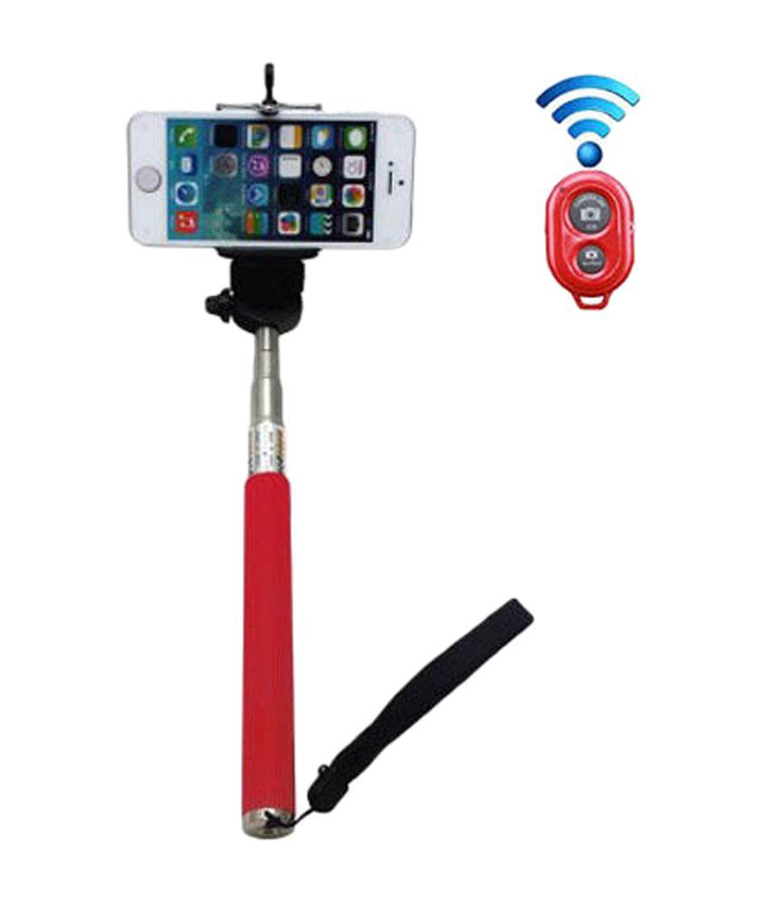 Generic Selfie Minix Selfie Stick + Bluetooth Shutter Remote Monopod