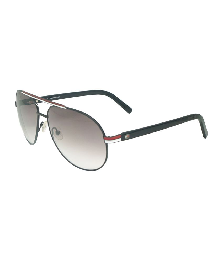 Tommy Hilfiger by Shoppers Stop Gray Aviator Sunglasses (Th 7958 C3)