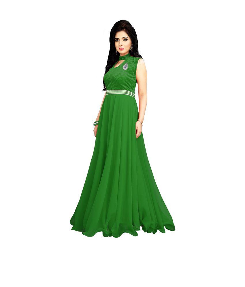 ffc010f848 Craze N Demand Green Faux Georgette Unstitched Dress Material - Buy Craze N  Demand Green Faux Georgette Unstitched Dress Material Online at Best Prices  in ...
