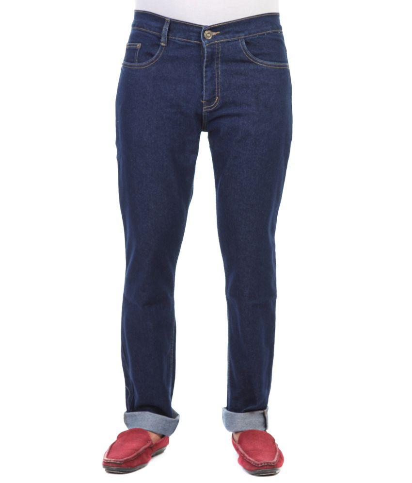 Haltung Streachable Carbon Blue Cotton Blend Denim Jeans