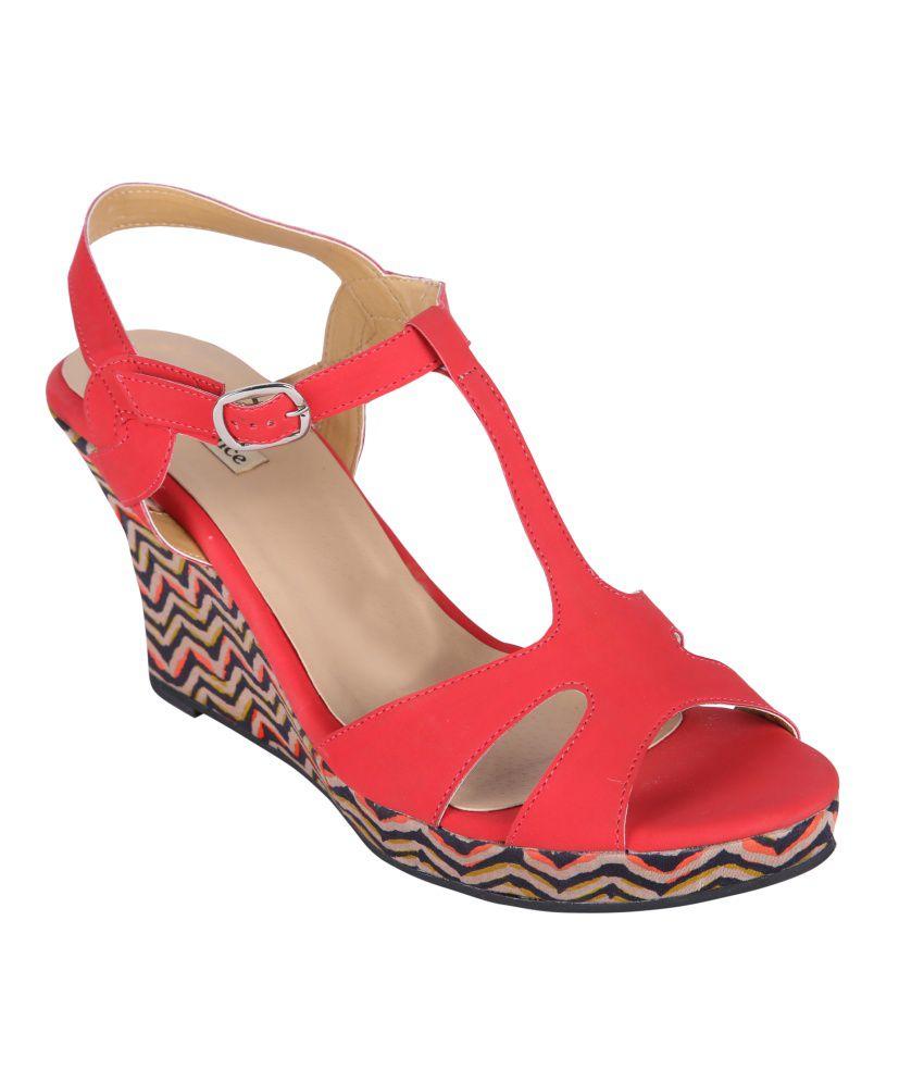 Indulgence Red Medium Heel Sandals