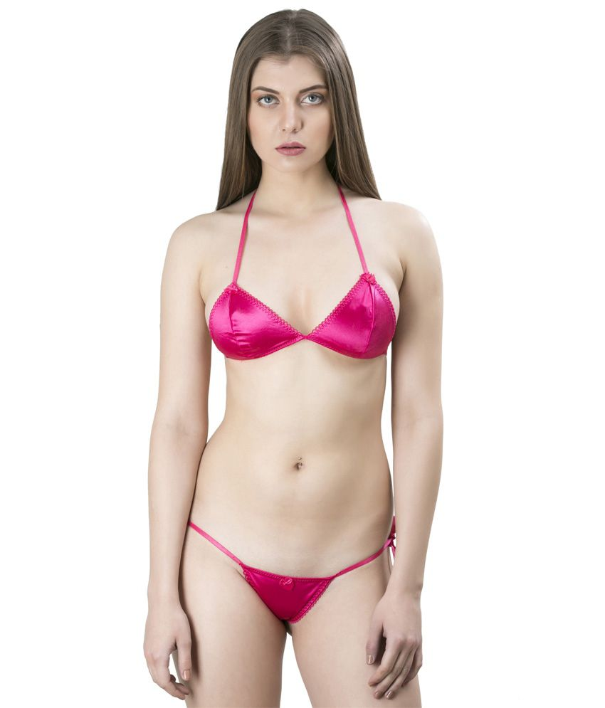 b1ae22a800 Buy Laceandme Pink Lace Two Piece Online at Best Prices in India - Snapdeal