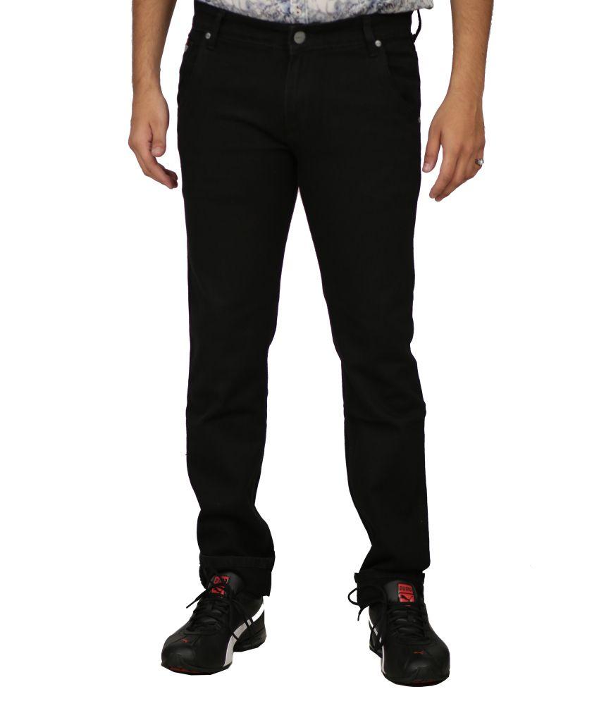 R-wings Black Slim Fit Jeans