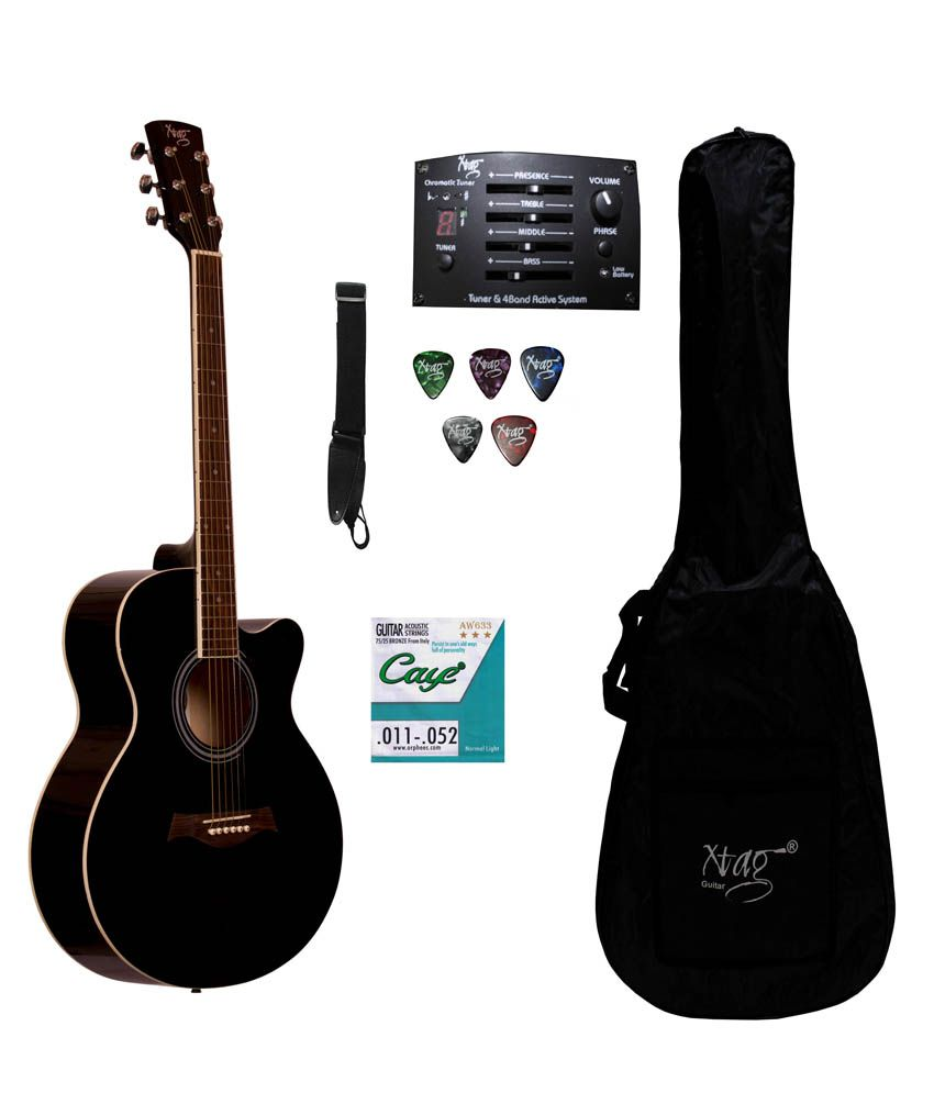 Xtag Semi Acoustic Electric guitar with inbuilt equilizer and tuner