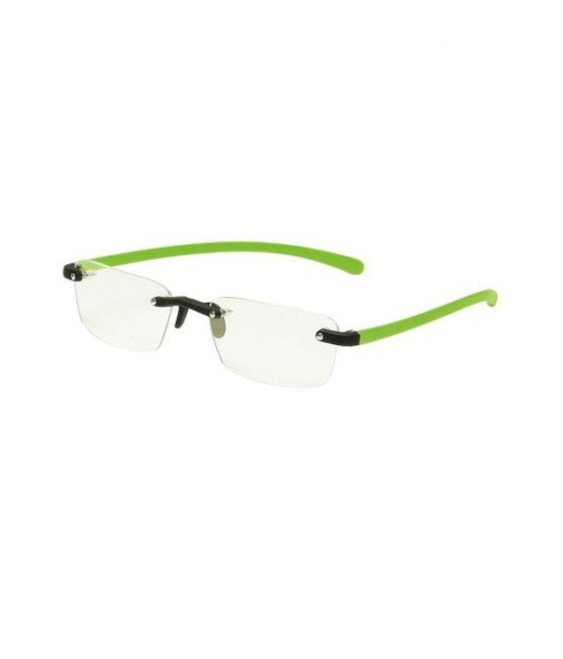 New Zovial Rectangle Rimless Green Eyewear Frames For Men - Buy New ...