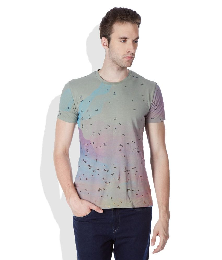 United Colors of Benetton Multicolored Round Neck T-Shirt