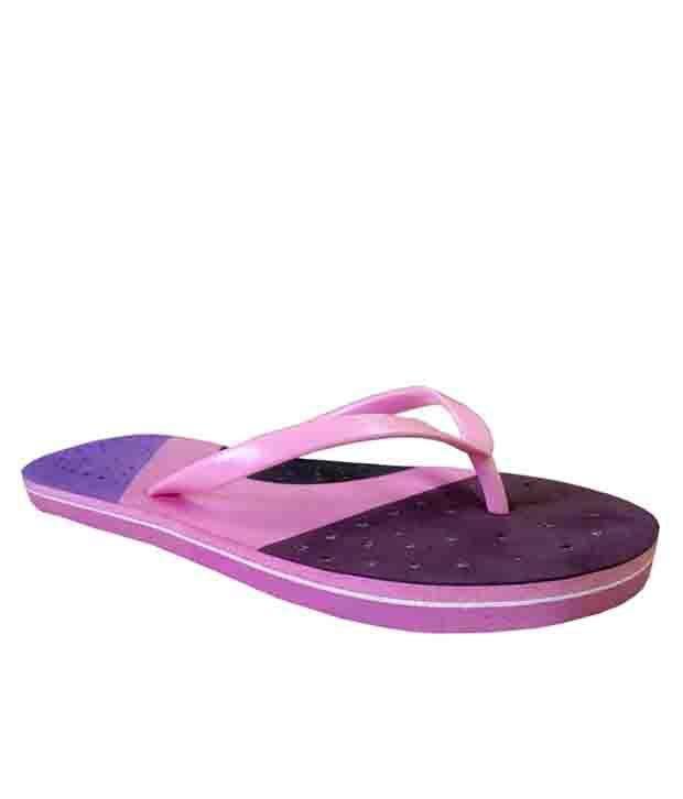 Unispeed Pink Rubber Comfort Flip Flop