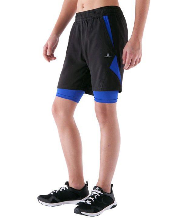 Domyos Black Fitness Shorts For Men