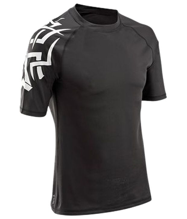 Domyos Black & White Grappling Fitness T Shirt For Men