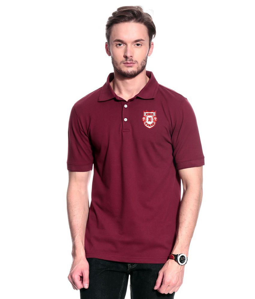 T10 Sports Maroon Polo T Shirt