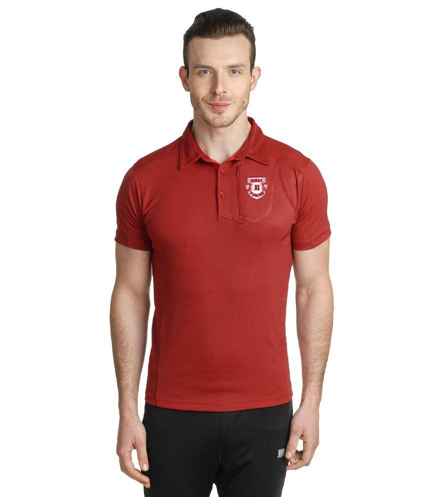 T10 Sports Maroon Polo T Shirt