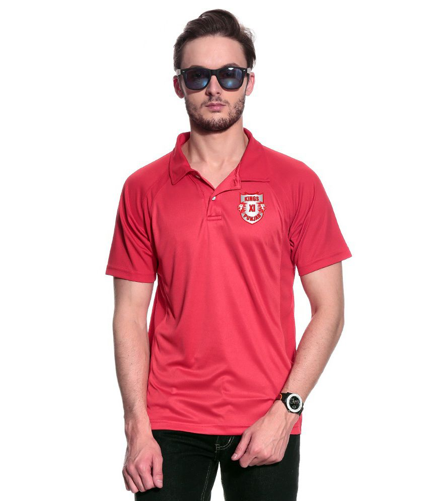 T10 Sports Red Polo T Shirt