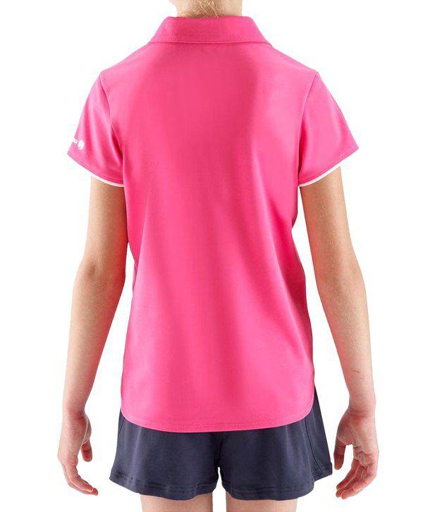 Artengo Pink Polo T Shirt for Girls