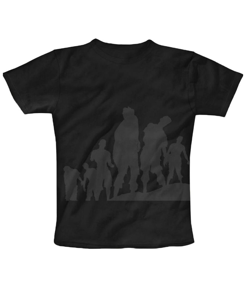 Freecultr Express Zombies Graphic Black & Gray Half Sleeve T Shirt