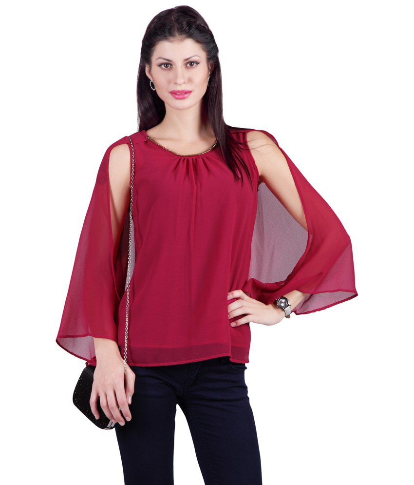 5aee366fb8fe20 Haute Curry By Shoppers Stop Red Polyester Tops - Buy Haute Curry By  Shoppers Stop Red Polyester Tops Online at Best Prices in India on Snapdeal